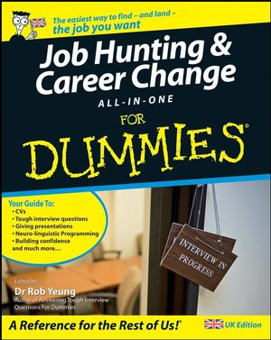 Job Hunting and Career Change All-In-One For Dummies (1119997992) cover image