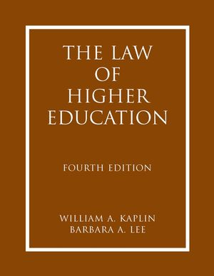 The Law of Higher Education, 2 Volumes, 4th Edition (0787986593) cover image