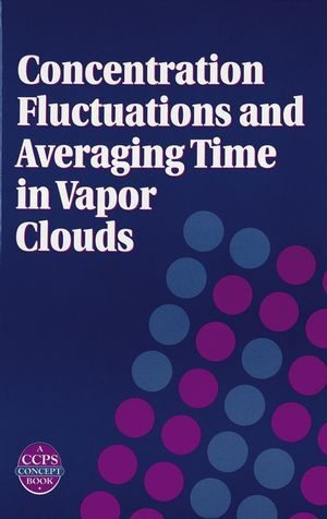 Concentration Fluctuations and Averaging Time in Vapor Clouds