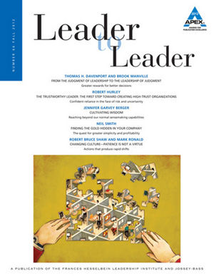 Leader to Leader (LTL), Volume 66, Fall 2012 (1118488393) cover image