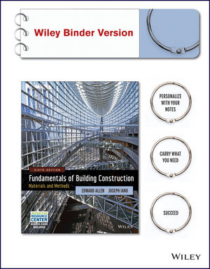 Fundamentals of Building Construction: Materials and Methods with Interactive Resource Center Access Card, 6th Edition Binder Ready Version (1118820193) cover image