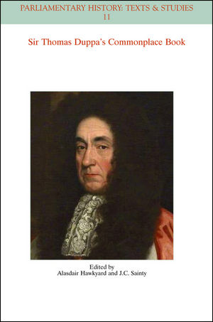 The Commonplace Book of Sir Thomas Duppa