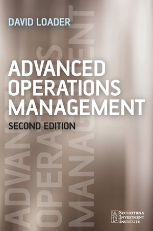 Advanced Operations Management, 2nd Edition (0470031794) cover image