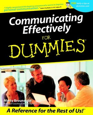 Communicating Effectively For Dummies (0764553194) cover image