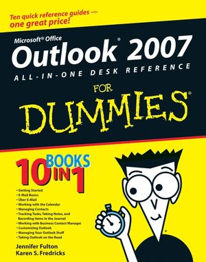 Outlook 2007 All-in-One Desk Reference For Dummies (1118050894) cover image