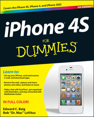 iPhone 4S For Dummies, 5th Edition (1118235894) cover image