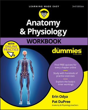 Anatomy & Physiology Workbook For Dummies with Online Practice, 3rd Edition