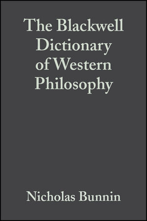 The Blackwell Dictionary of Western Philosophy (1405106794) cover image