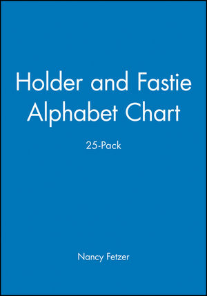 Holder and Fastie Alphabet Chart 25-Pack, Contains 25 8-1/2 x 11 Cards