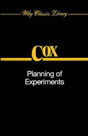 Planning of Experiments