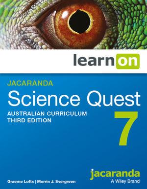 Jacaranda Science Quest 7 Australian Curriculum 3e learnON (Codes Emailed)