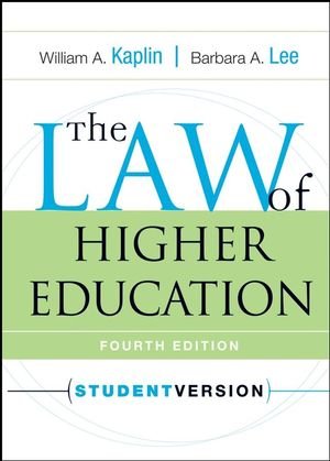 The Law of <span class='search-highlight'>Higher</span> <span class='search-highlight'>Education</span>, Student Version, 4th Edition