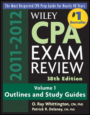 Wiley CPA Examination Review, Volume 1, Outlines and Study Guides, 38th Edition, 2011 - 2012
