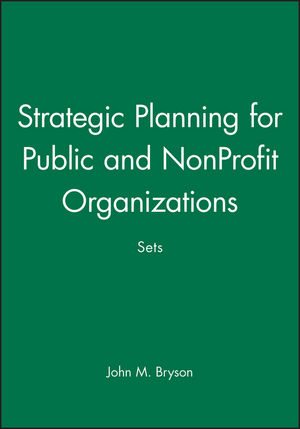 Strategic Planning for Public and NonProfit Organizations Sets
