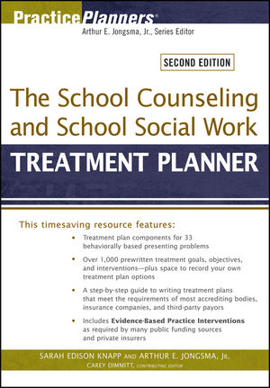 The School Counseling and School Social Work Treatment Planner, 2nd Edition (1118311795) cover image