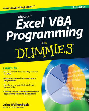 Excel VBA Programming For Dummies, 2nd Edition (0470503696) cover image