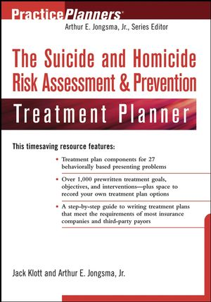 The Suicide and Homicide Risk Assessment & Prevention Treatment Planner (0471650196) cover image