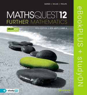 Maths Quest 12 Further Mathematics 5e VCE Units 3&4 eBookPLUS (Online Purchase) + StudyOn VCE Further Mathematics Units 3&4 2e (Online Purchase)