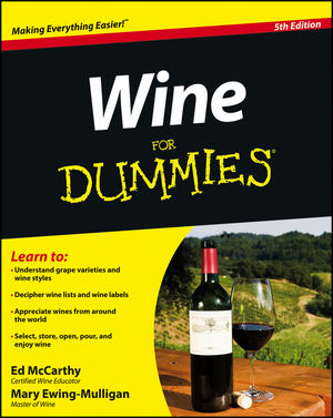 Wine For Dummies, 5th Edition (1118333896) cover image