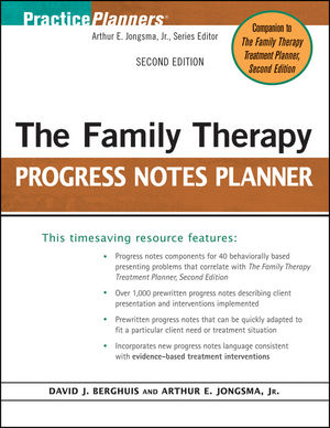 The Family Therapy Progress Notes Planner, 2nd Edition (0470638397) cover image