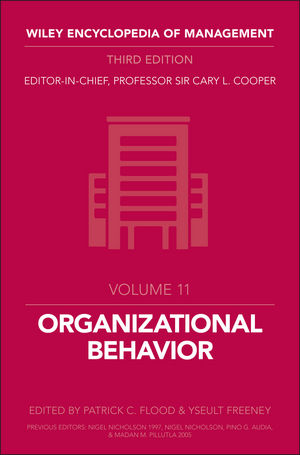 Wiley Encyclopedia of Management, Volume 11, Organizational Behavior, 3rd Edition
