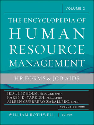 The Encyclopedia of Human Resource Management, Volume 2: HR Forms and Job Aids (1118189698) cover image