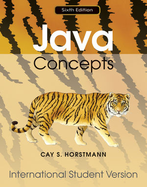 Java Concepts for Java 7 and 8, 6th Edition International Student Version