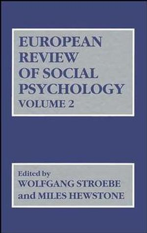 European Review of Social Psychology, Volume 2 (0471929999) cover image