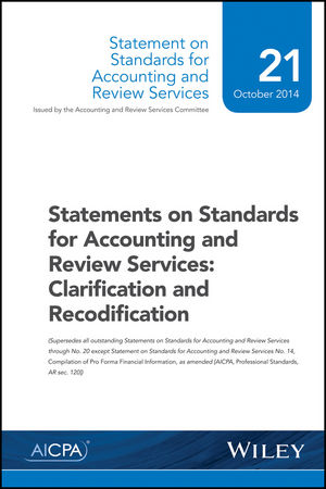 Statements on Standards for Accounting and Review Services: Clarification and Recodification (1941651399) cover image