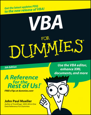 VBA For Dummies, 5th Edition (047012699X) cover image