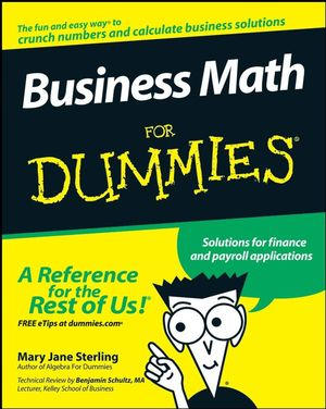 Business Math For Dummies (047039739X) cover image