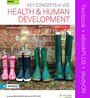 Key Concepts in VCE Health and Human Development: Units 3 & 4 & eBookPLUS + StudyOn, 4th Edition