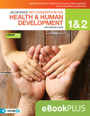 Key Concepts in VCE Health and Human Development Units 1 & 2 5E Ebook Plus (Codes Emailed) + StudyOn VCE Health and Human Development Units 1 & 2 (Code