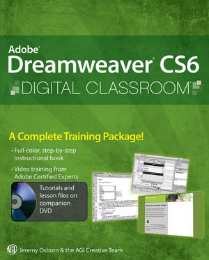 Adobe Dreamweaver CS6 Digital Classroom (111812409X) cover image