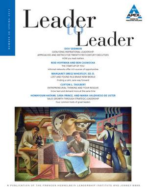 Leader to Leader (LTL), Volume 68, Spring 2013