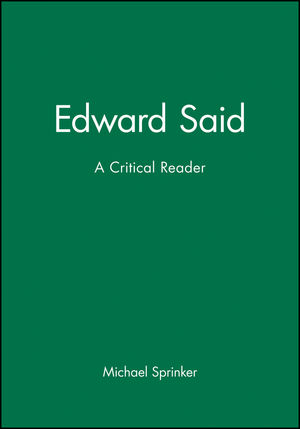 Edward Said: A Critical Reader (155786229X) cover image