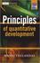 Principles of Quantitative Development (0470745703) cover image