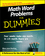 Math Word Problems For Dummies (0470146605) cover image