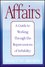 Affairs: A Guide to Working Through the Repercussions of Infidelity, (Special Large Print Amazon Edition) (1118493605) cover image