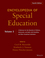 Encyclopedia of Special Education: A Reference for the Education of Children, Adolescents, and Adults Disabilities and Other Exceptional Individuals, Volume 3, 4th Edition (0470949406) cover image