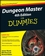 Dungeon Master 4th Edition For Dummies (0470292911) cover image