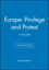 Europe: Privilege and Protest: 1730-1789, 2nd Edition (0631213813) cover image