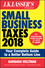 J.K. Lasser's Small Business Taxes 2018: Your Complete Guide to a Better Bottom Line (1119380413) cover image
