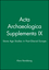 Acta Archaeologica Supplementa IX: Stone Age Studies in Post-Glacial Europe (1405184213) cover image