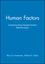 Human Factors: Understanding People-System Relationships, Workbook (0471870617) cover image
