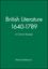 British Literature 1640-1789: A Critical Reader (0631197419) cover image