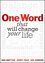 One Word that will Change Your Life (111854241X) cover image