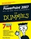 PowerPoint 2007 All-in-One Desk Reference For Dummies (0470040629) cover image