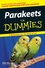 Parakeets For Dummies (0470121629) cover image