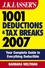 J.K. Lasser's 1001 Deductions and Tax Breaks 2007: Your Complete Guide to Everything Deductible (0470113030) cover image